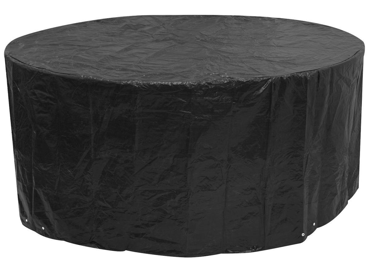 Woodside Large Round Patio Set Cover BLACK