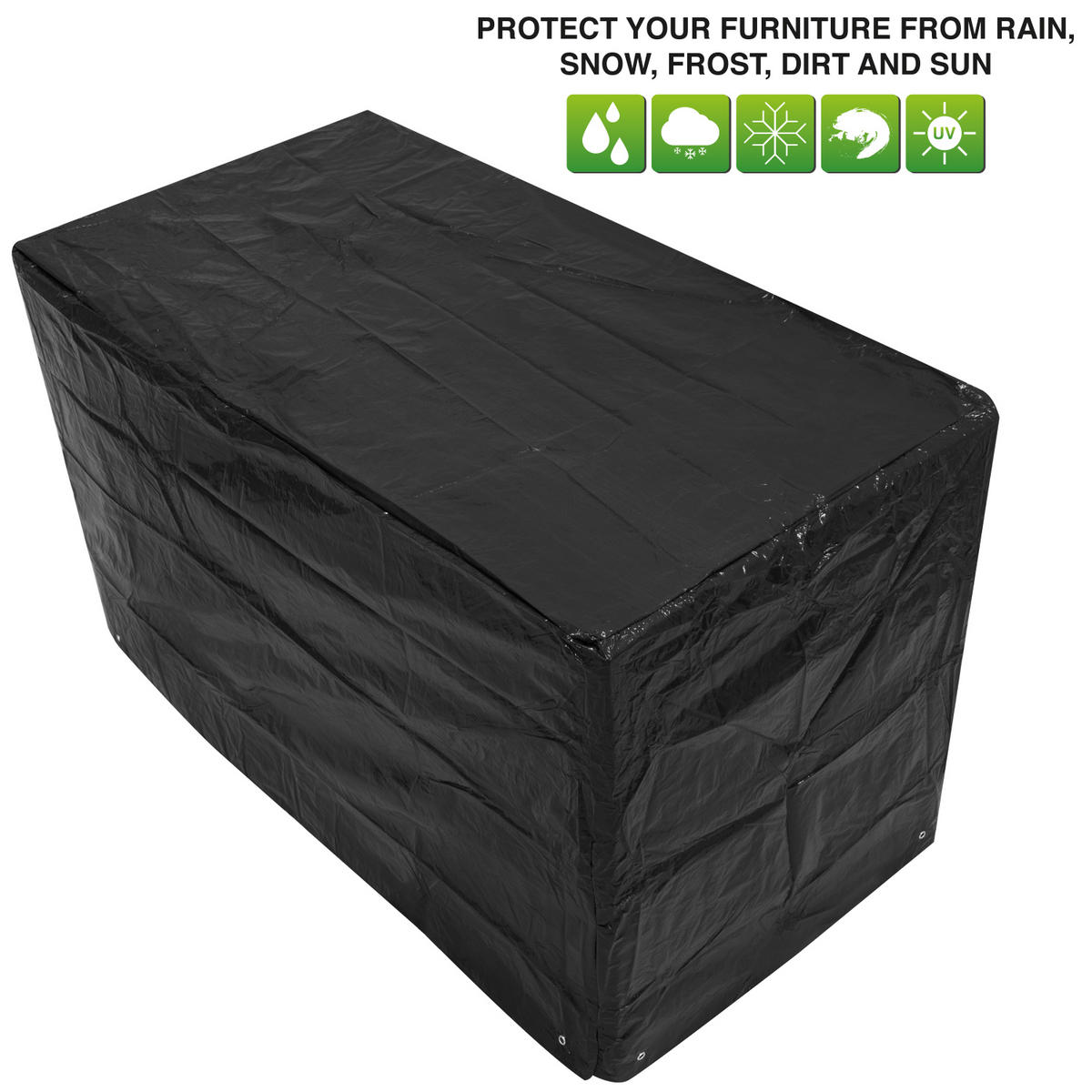 Woodside Bistro Patio Set Cover BLACK