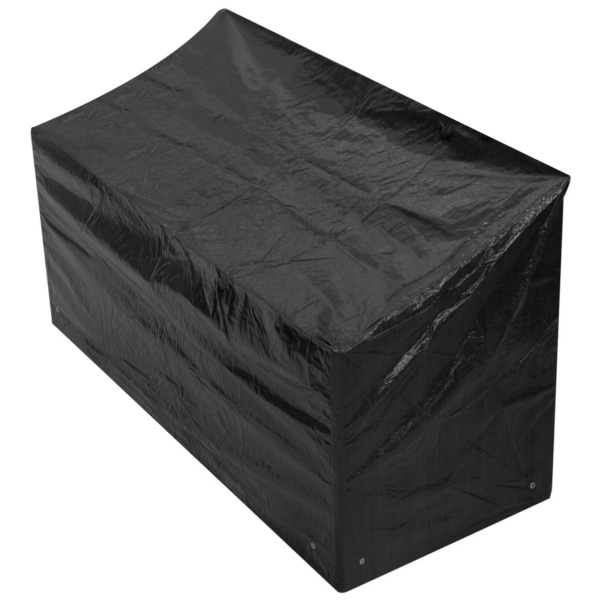 Woodside 3 Seater 1.5M Bench Cover BLACK