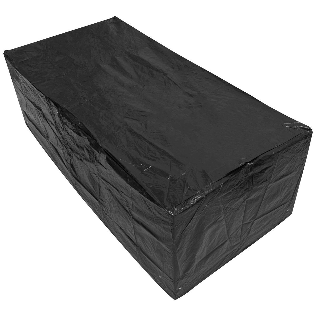 Woodside Large Rectangle Table Cover BLACK