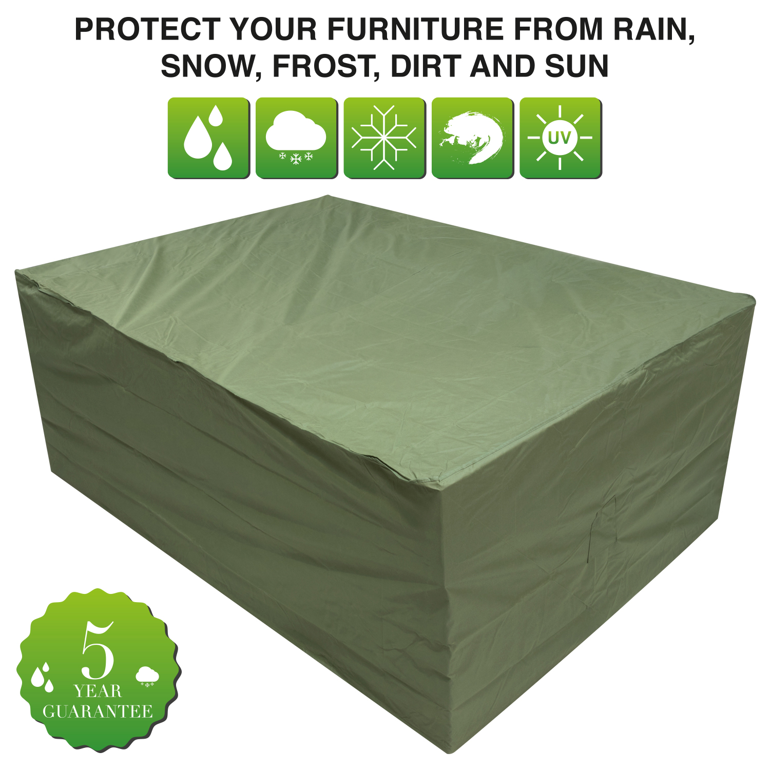 Oxbridge large oval patio set cover green covers for Oval patio set cover