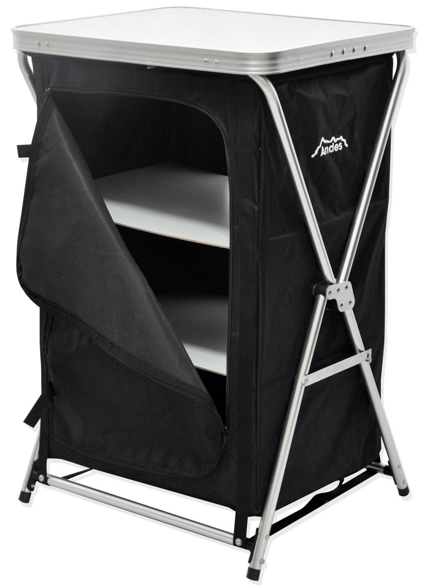 Andes 3 Shelf Foldable Camping Cabinet