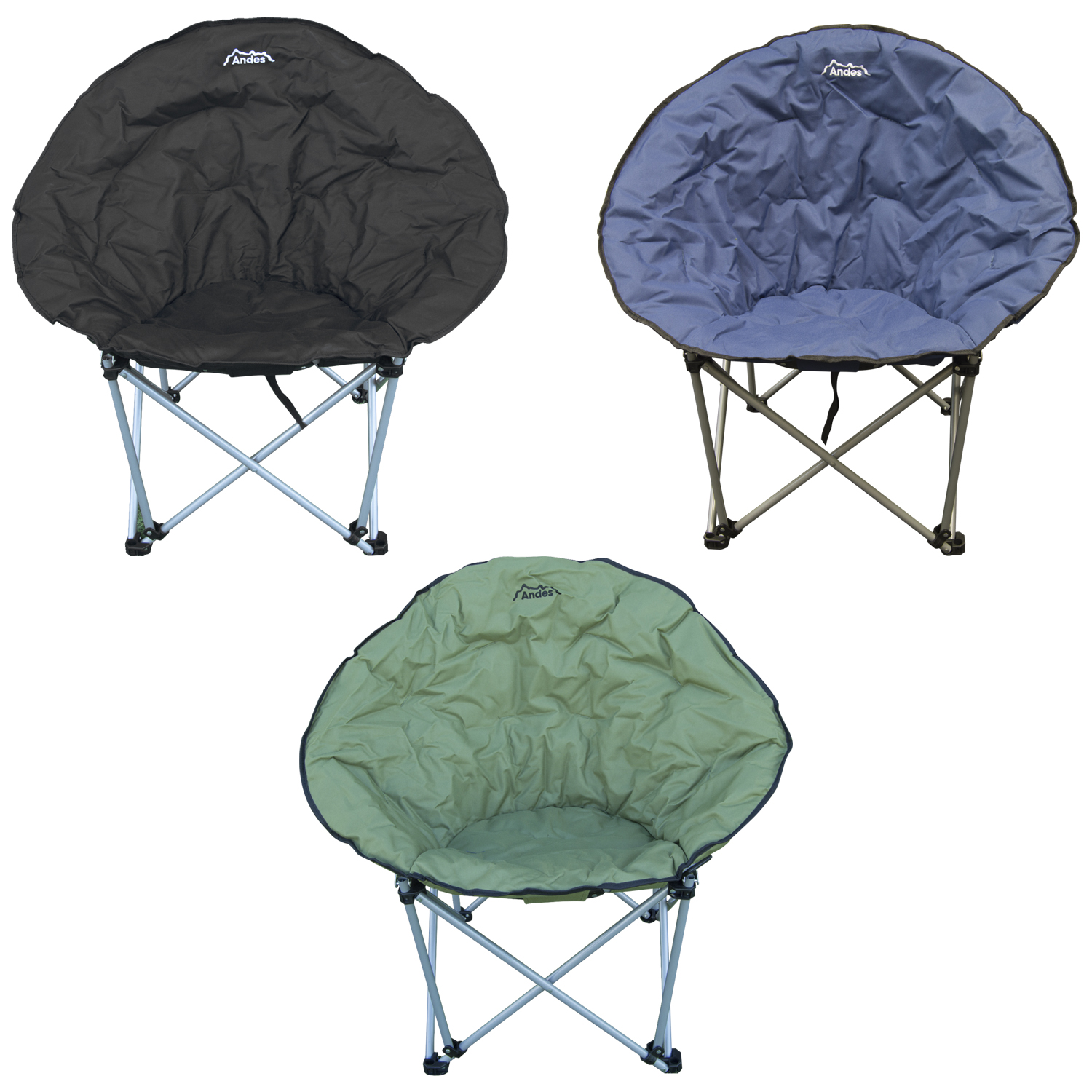 Sentinel Andes Folding Camping Moon Chair Outdoor Garden Picnic Lounger