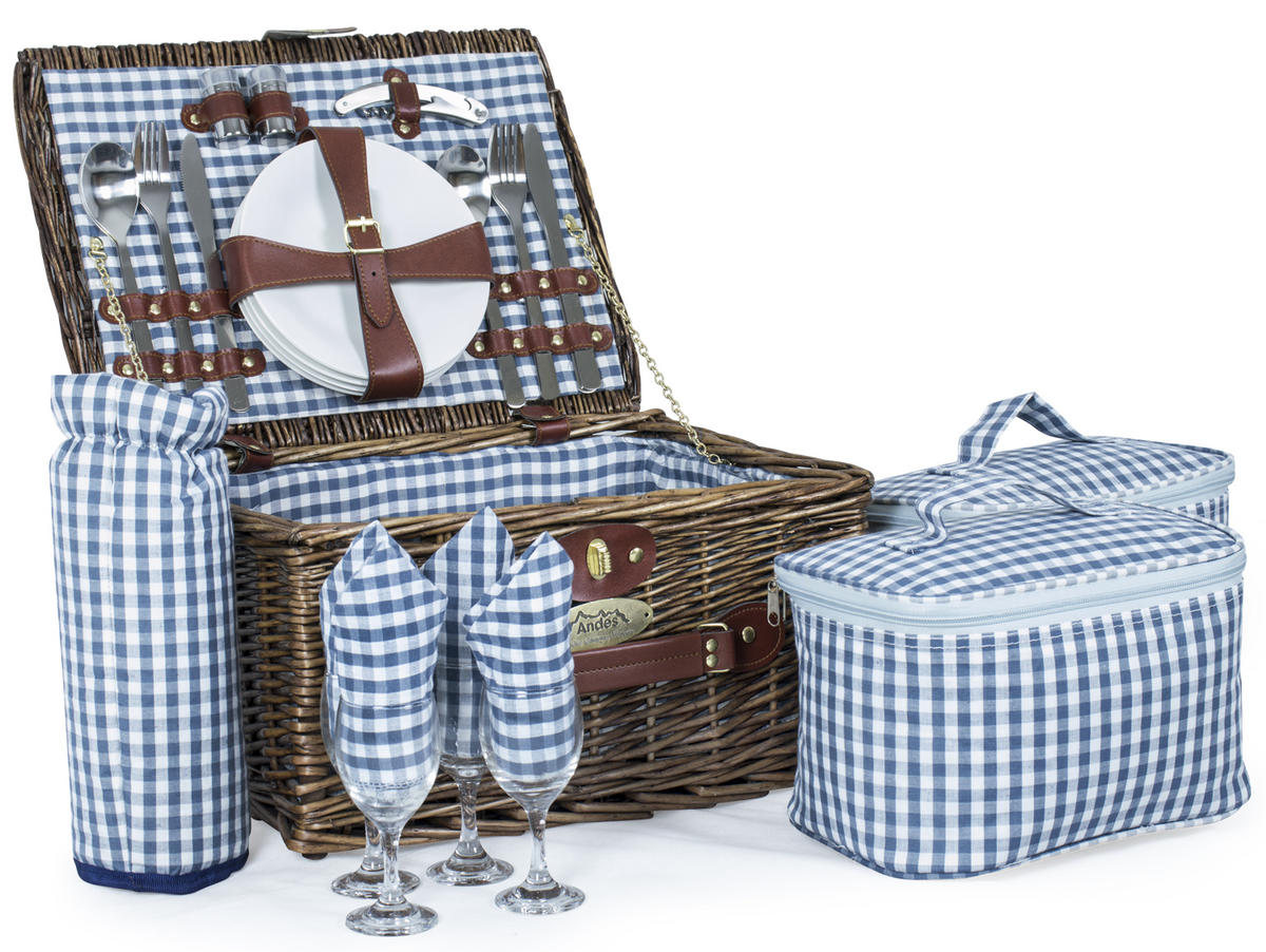 Andes 4 Person Picnic Hamper Set