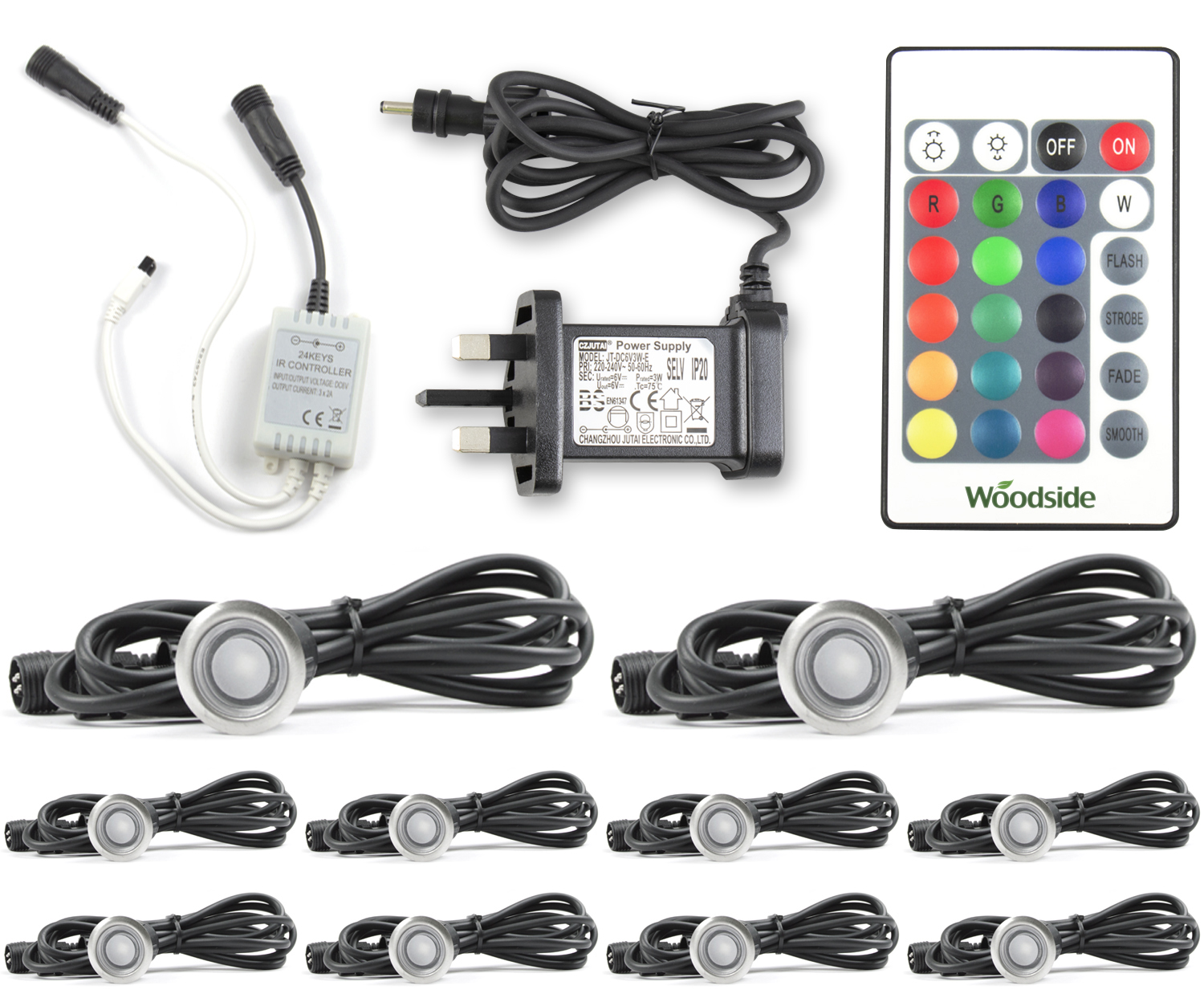 Woodside 30mm Colour Changing Deck Lights | Electrical | Outdoor Value