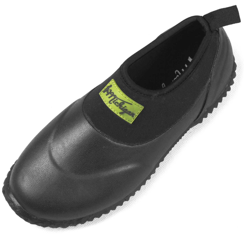 Michigan Black Neoprene Garden Muck Boots Slip On