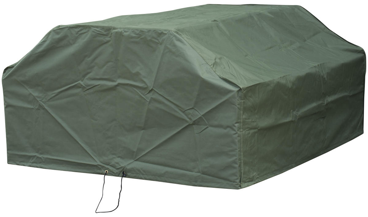 Woodside 8 Seater Square Picnic Table Cover GREEN