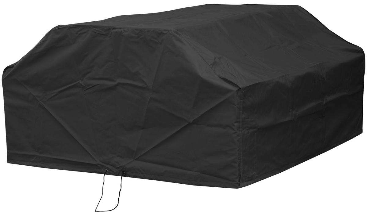 Woodside 8 Seater Square Picnic Table Cover BLACK