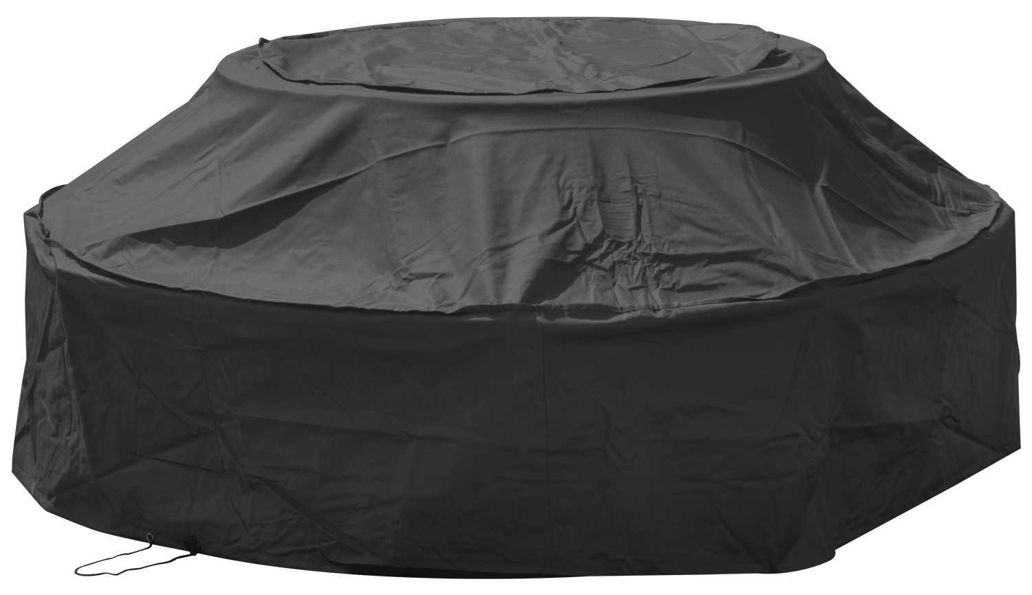 Woodside 6 Seater Round Picnic Table Cover Black Covers Outdoor