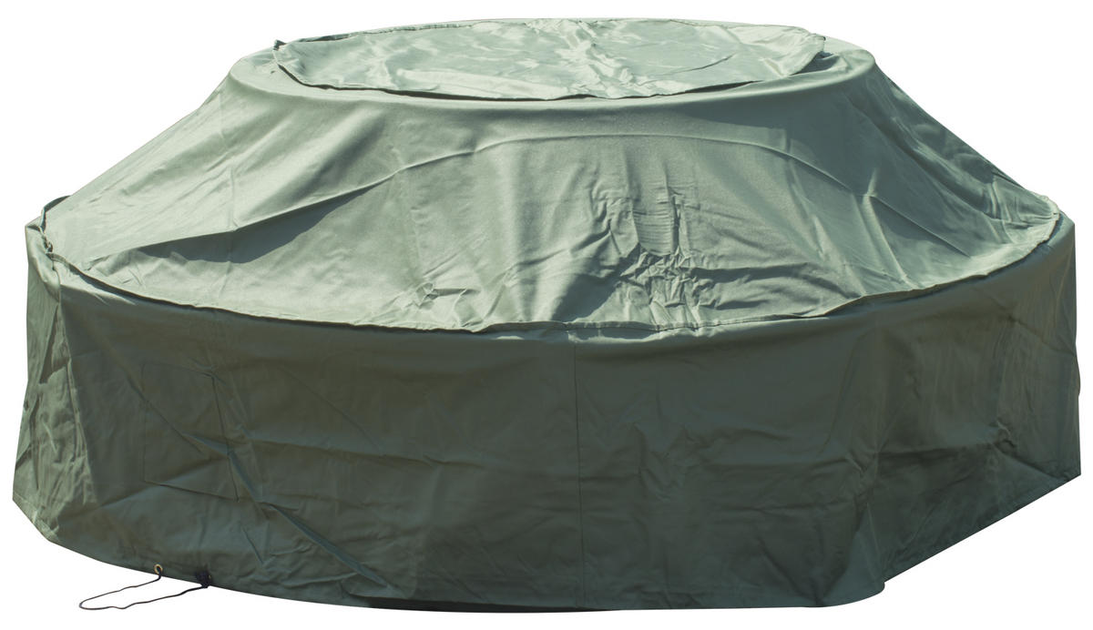 Woodside 8 Seater Round Picnic Table Cover GREEN