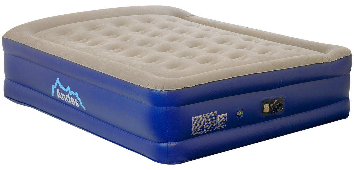 Andes Flocked Inflatable Queen Size Mattress