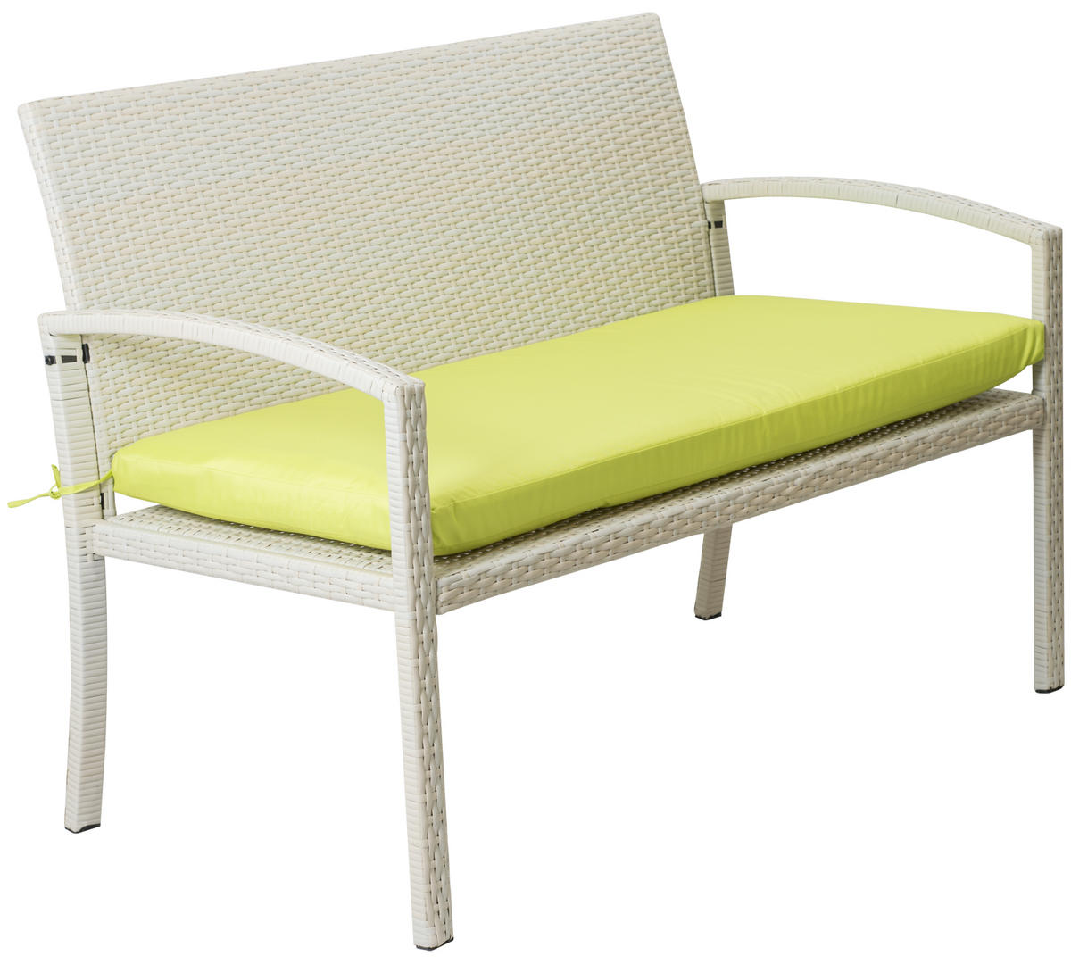 Woodside Cream Rattan Garden Bench