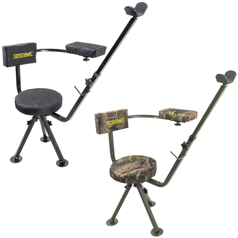 Nitehawk 360 Swivel Deluxe Shooting Hunting Chair Padded Gun Rifle