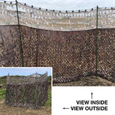 Nitehawk Shooting Net With Clear View Top