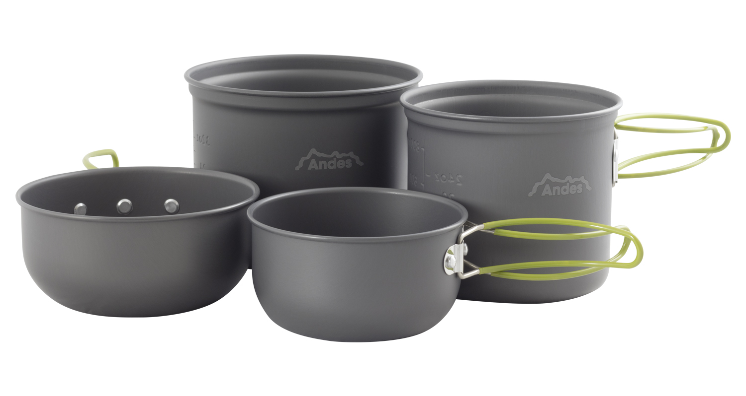 bbc5aabb4a7 Andes 3-4 Person Camping Cookware Kit