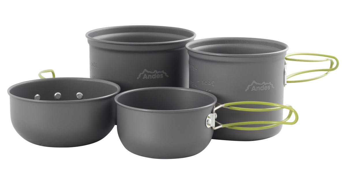 Andes 3-4 Person Camping Cookware Kit