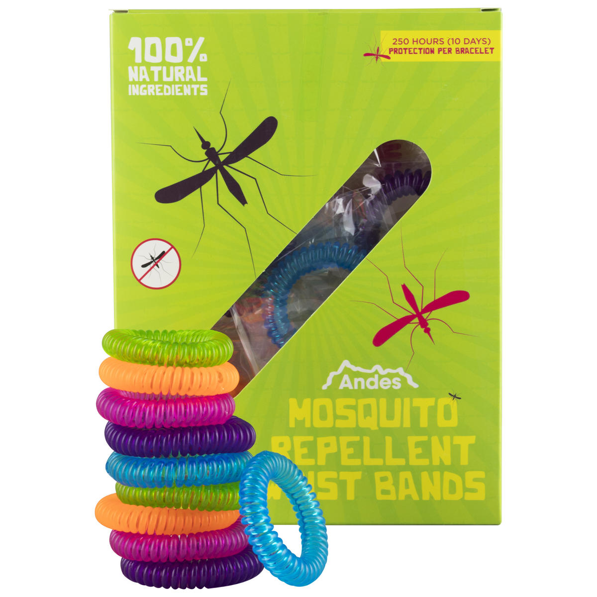Andes Mosquito Repellent Wrist Bands 10 PACK