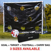 Wollowo Football Goal with Targets, Ball & Carry Bag