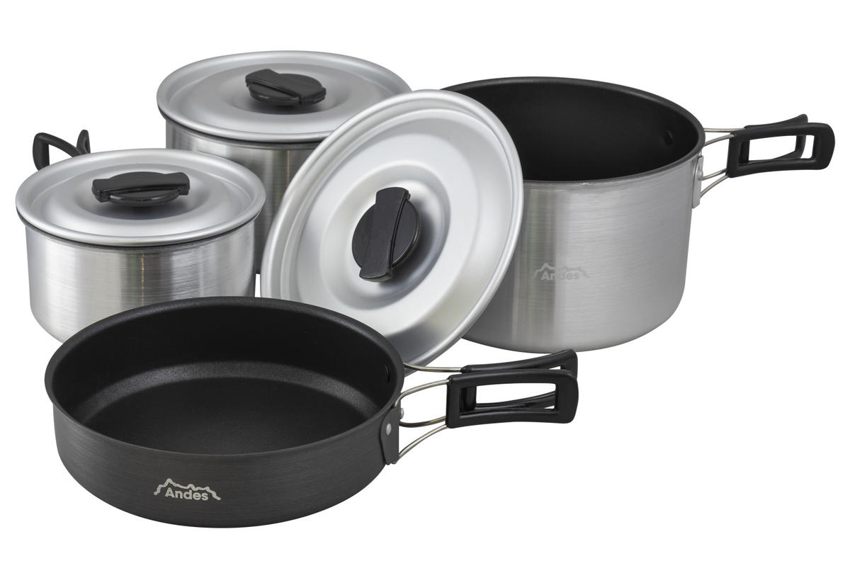 Andes 4pc Non Stick Camping Cook Set
