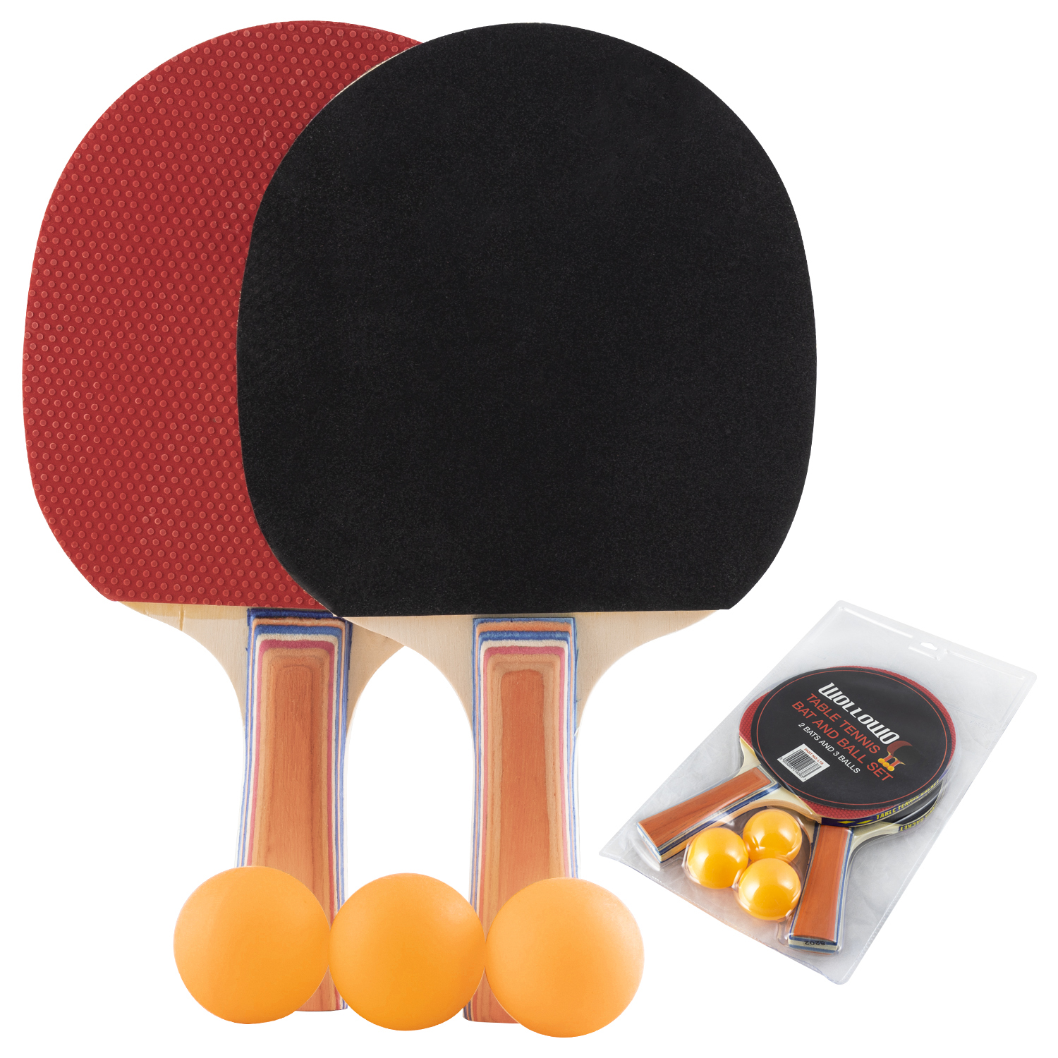 Wollowo Table Tennis Bats & Balls Set | Table Tennis | Outdoor Value
