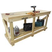 Woodside Wooden Work Bench