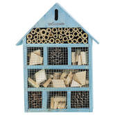 Woodside Wooden Insect Bee House BLUE