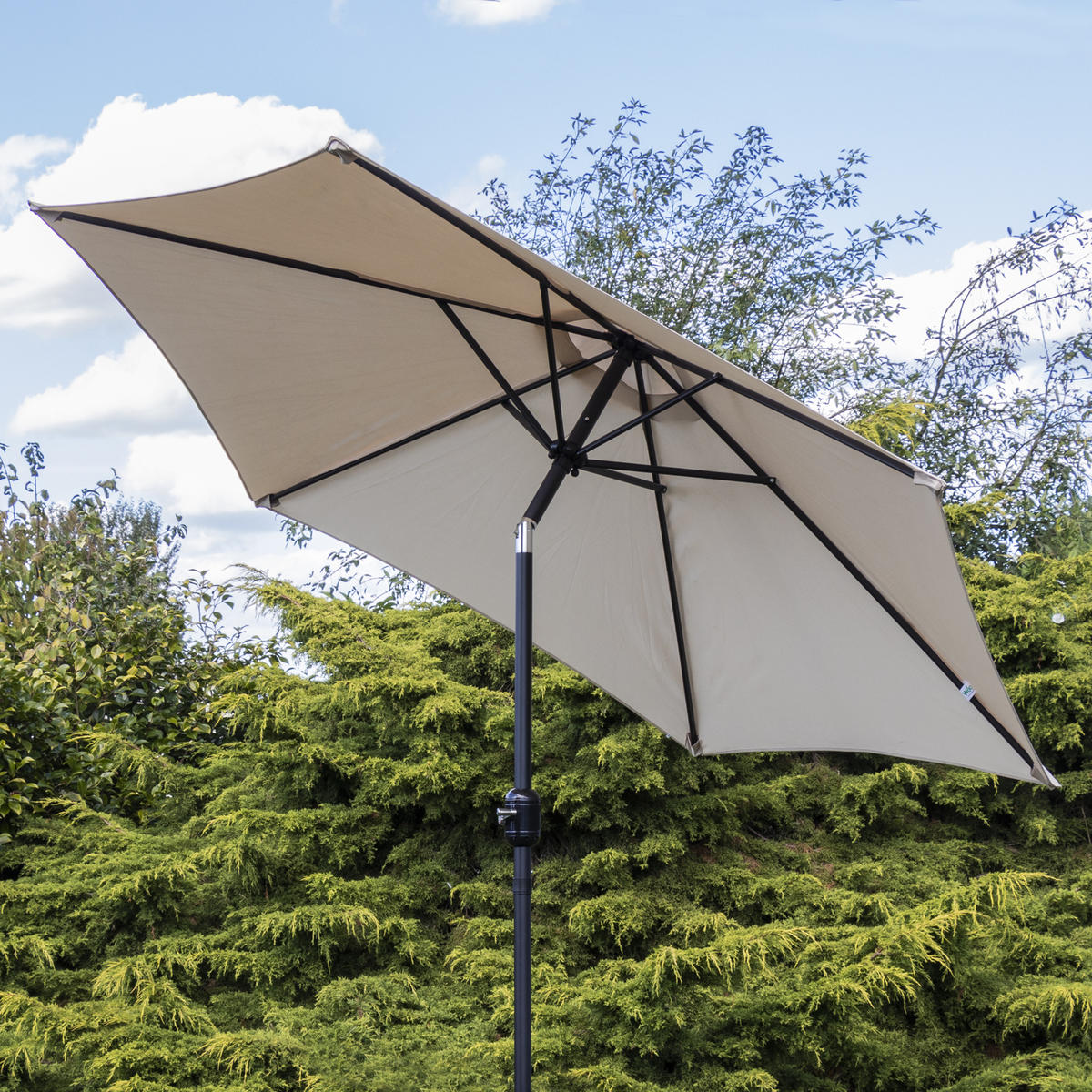Woodside Parasol with Winding Crank & Tilt SAND