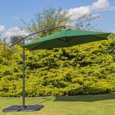Woodside Hanging Banana Parasol GREEN