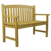 Woodside Wooden 4ft 2 Seater Bench