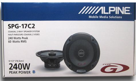 New Alpine SPG 17C2?2-Way Coaxial In Car Sound Speaker?Type G?17cm?240 Watt Thumbnail 4