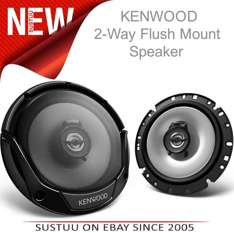 KENWOOD KFC E1765 17cm 3 Way In Car Vehicle Audio Sound Speaker Thumbnail 1