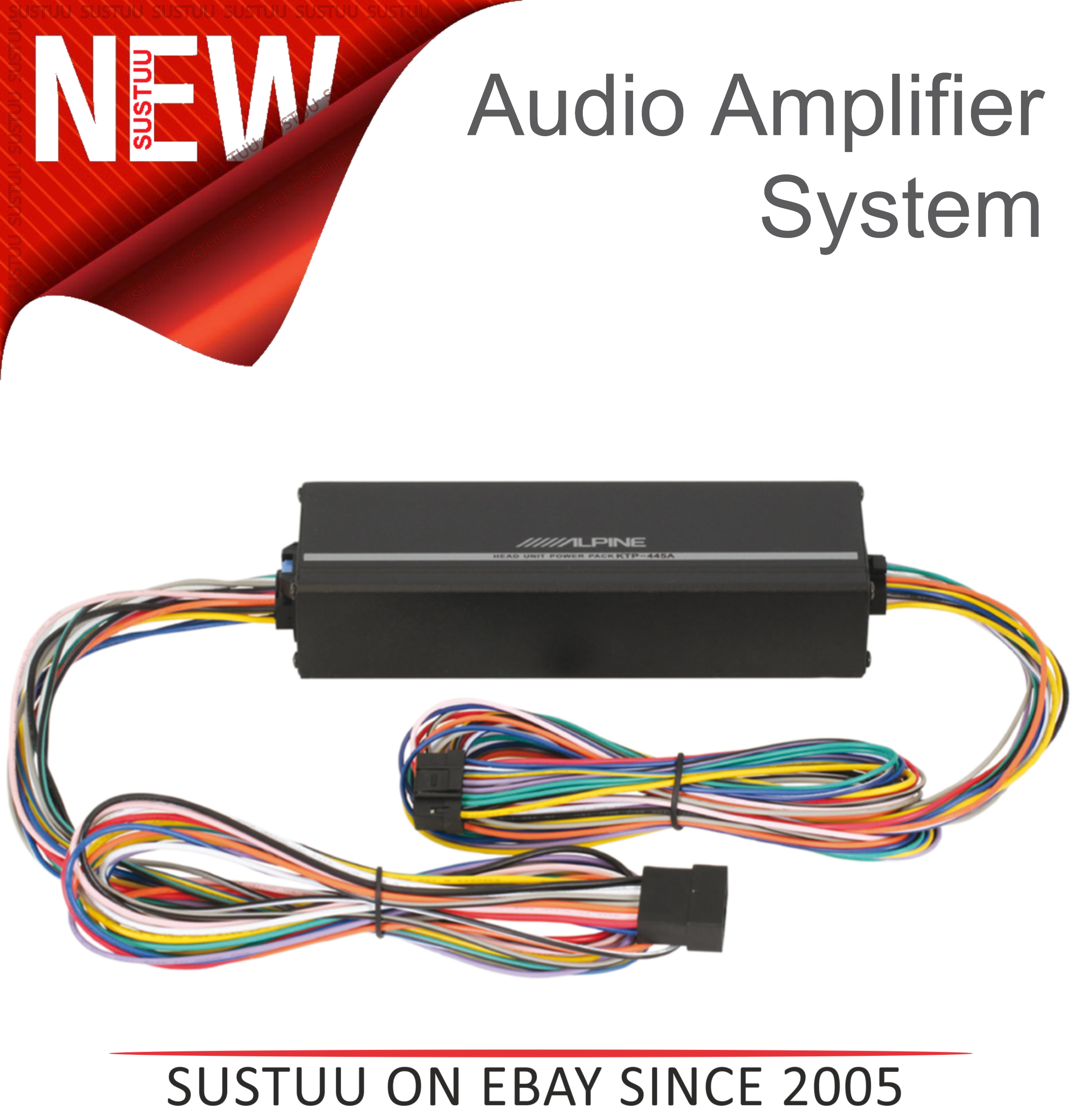 Alpine Ktp 445a 4 Channel In Car Vehicle Sound Audio Amplifier Wiring System Sentinel