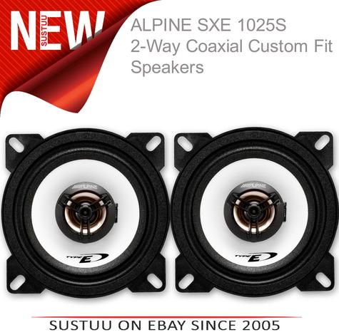 "Alpine SXE 1025S 10cm 4"" 2 Way Coaxial  Car Audio Sound Speaker 180W Max NEW  Thumbnail 1"