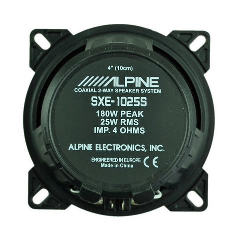 "Alpine SXE 1025S 10cm 4"" 2 Way Coaxial  Car Audio Sound Speaker 180W Max NEW  Thumbnail 2"