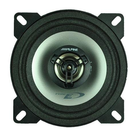 "Alpine SXE 1025S 10cm 4"" 2 Way Coaxial  Car Audio Sound Speaker 180W Max NEW  Thumbnail 3"