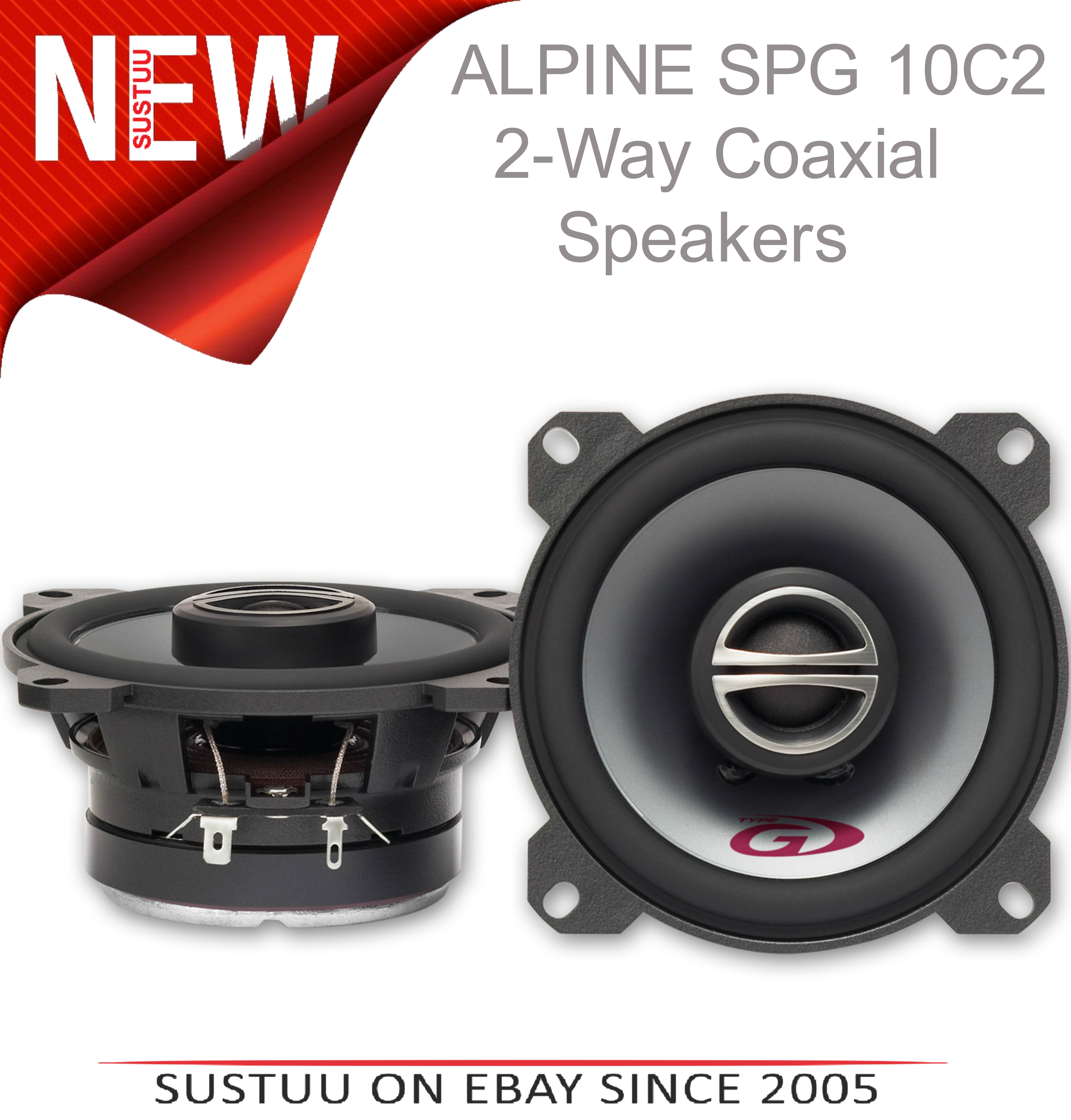 Alpine SPG 10C2|2-Way Coaxial Car Audio Sound Speakers|10cm|180W|1 YEAR WARRANTY