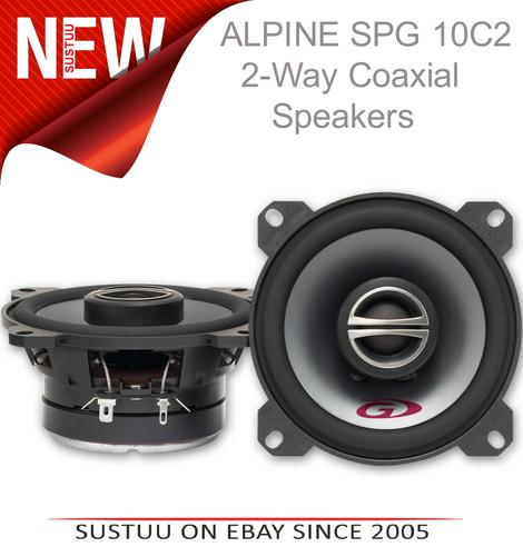 Alpine SPG 10C2|2-Way Coaxial Car Audio Sound Speakers|10cm|180W|1 YEAR WARRANTY Thumbnail 1