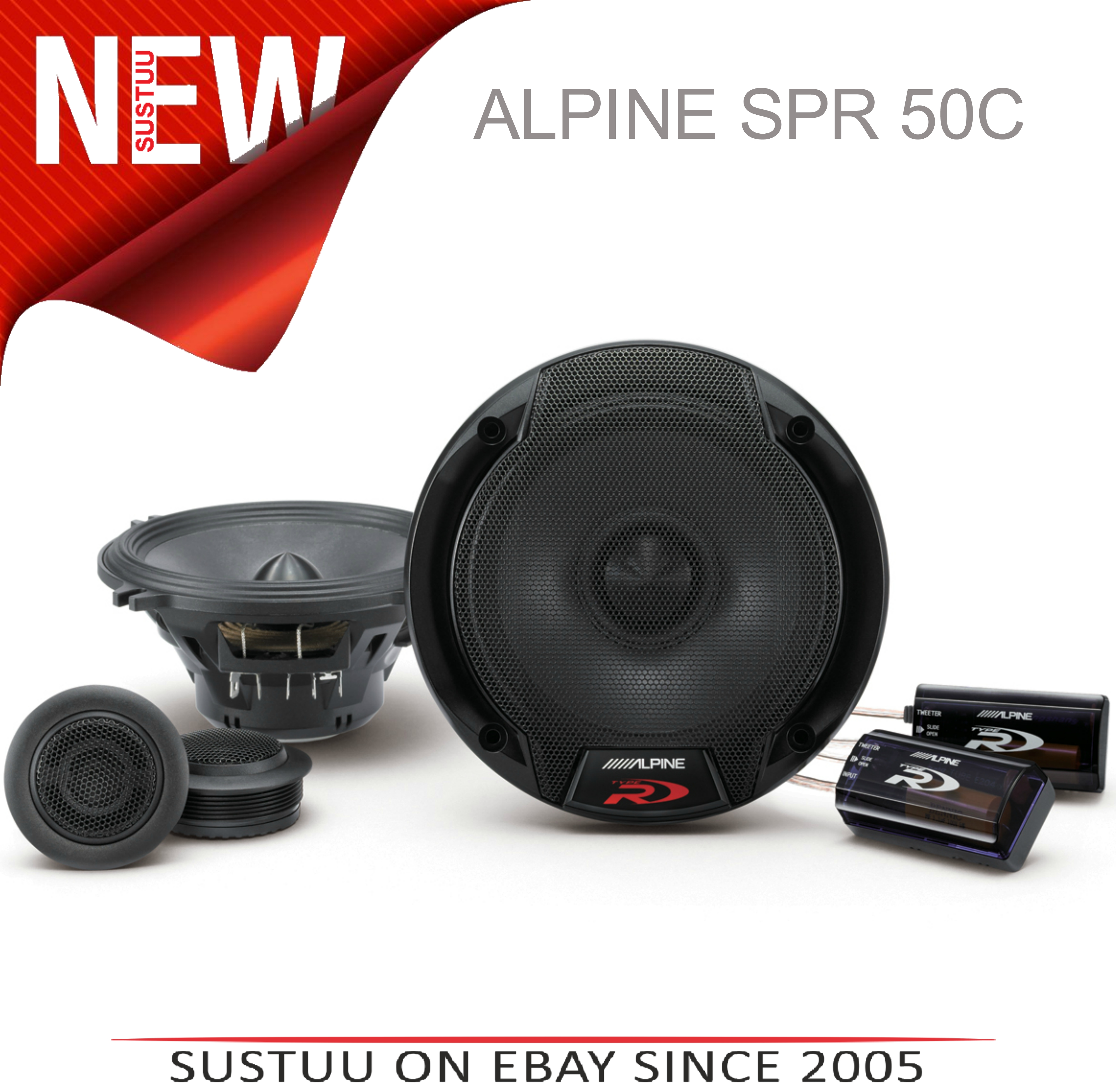 ALPINE SPR 50C 13cm 2 Way 300W In Car Vehicle Audio Sound Speaker