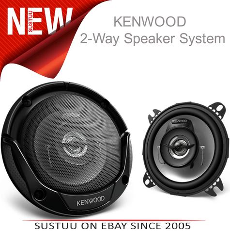 KENWOOD KFC E1065 100mm In Car Vehicle Audio Sound Speaker Thumbnail 1