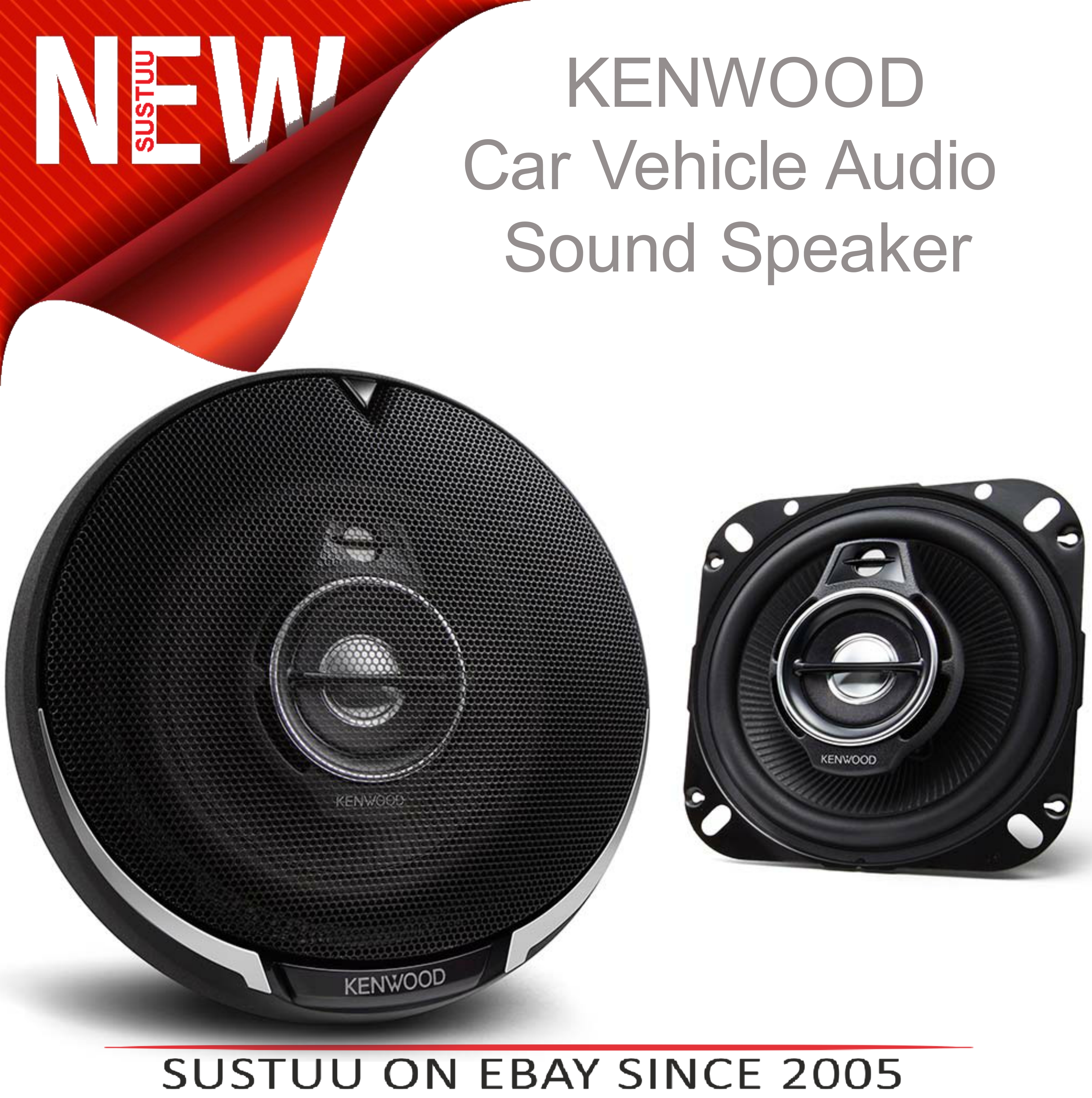 KENWOOD KFC PS1095 100mm 3 Way In Car Vehicle Audio Sound Speaker