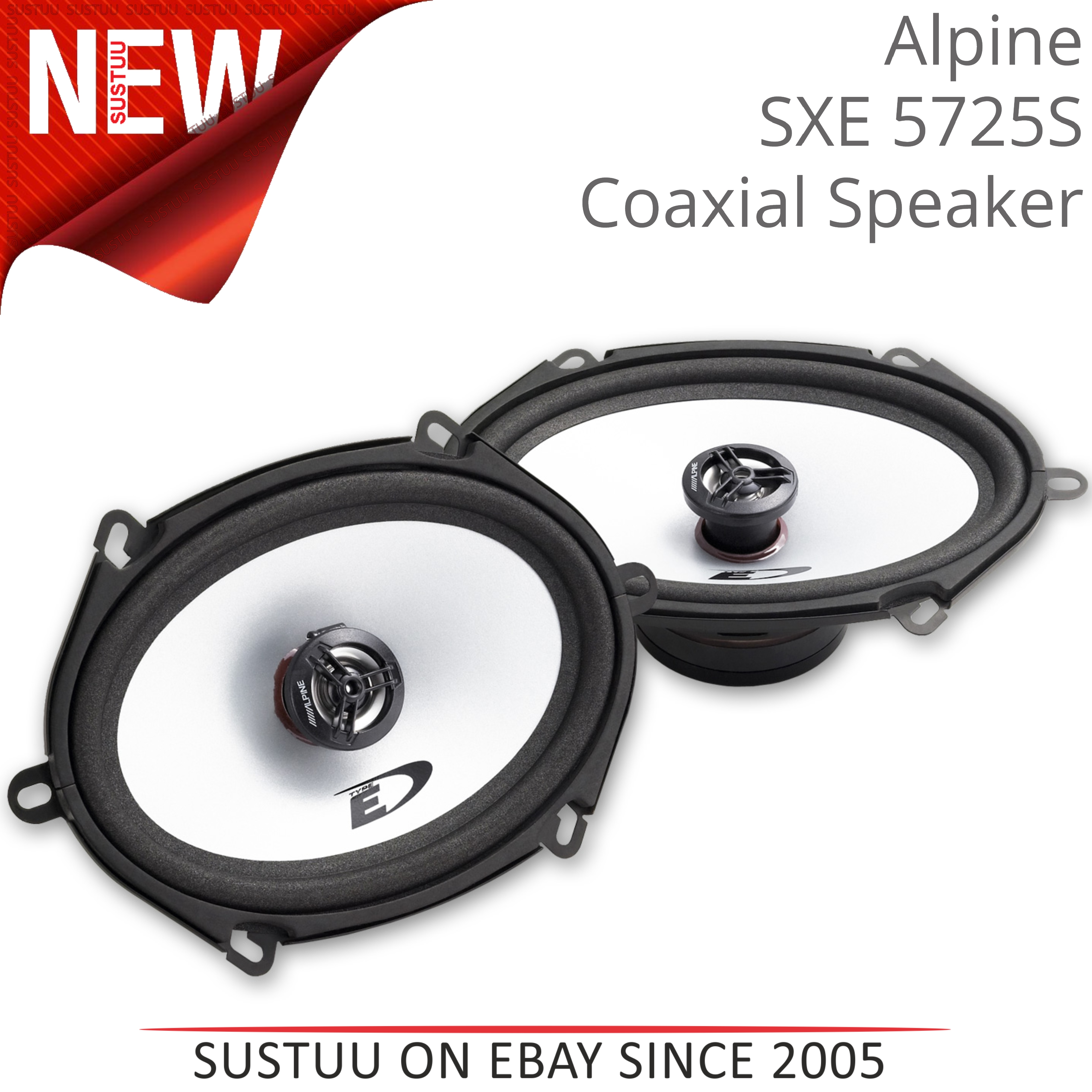 "Alpine SXE 5725S 5""x7"" Custom Fit Car/Van Door 2-Way Coaxial Speaker 1yrWARRANTY"