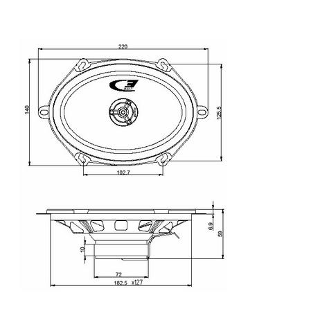 "Alpine SXE 5725S 5""x7"" Custom Fit Car/Van Door 2-Way Coaxial Speaker 1yrWARRANTY Thumbnail 4"