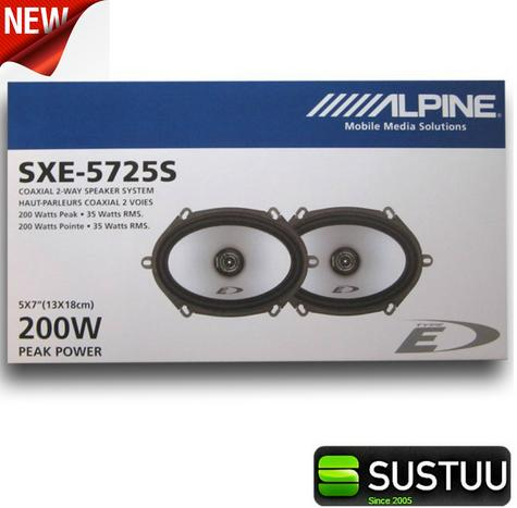 "Alpine SXE 5725S 5""x7"" Custom Fit Car/Van Door 2-Way Coaxial Speaker 1yrWARRANTY Thumbnail 3"
