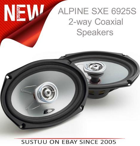 "Alpine SXE 6925S 2-way Coaxial Car Audio Sound Speaker 6""x9""Custom fit 1500W Max Thumbnail 1"