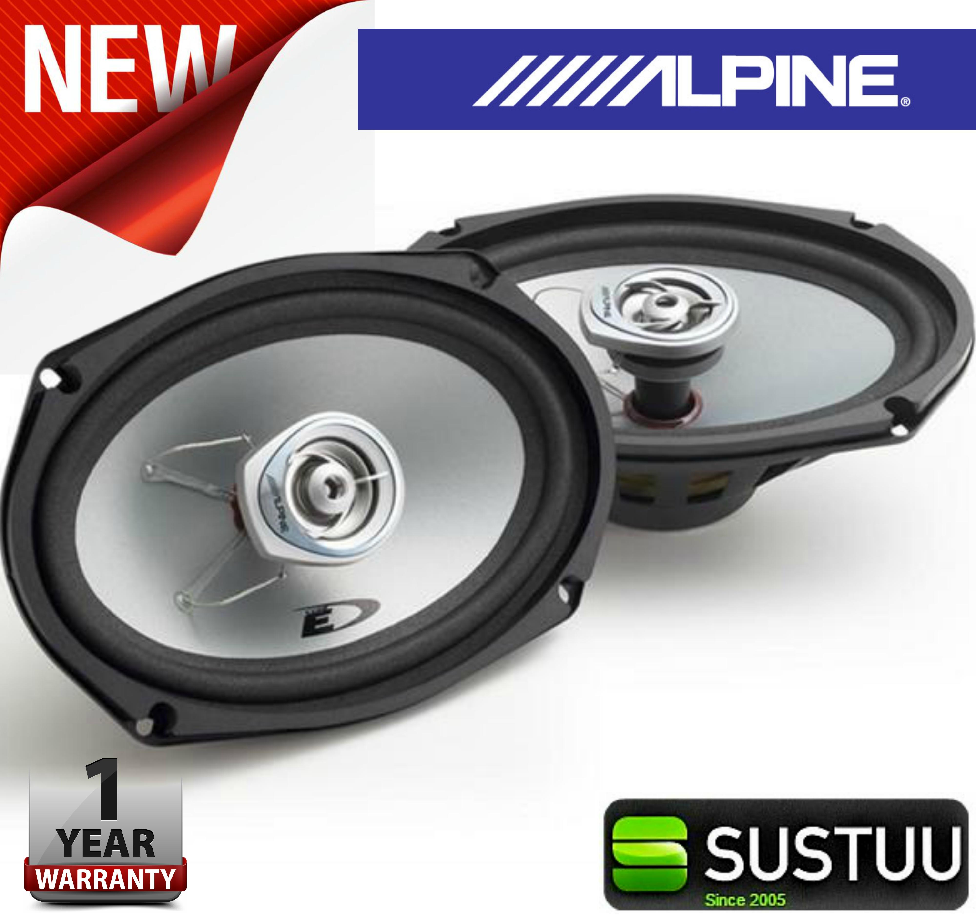 "Alpine SXE 6925S 2-way Coaxial Car Audio Sound Speaker 6""x9""Custom fit 1500W Max"