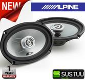 "Alpine SXE 6925S 2-way Coaxial Car Audio Sound Speaker 6""x9""Custom fit 1500W Max"