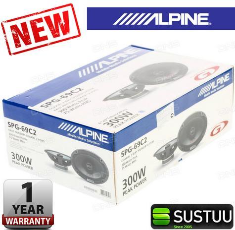 100% Warranty Alpine SPG 69C2 300W 2-Way Coaxial 6x9 Audio Speaker for car NEW Thumbnail 1