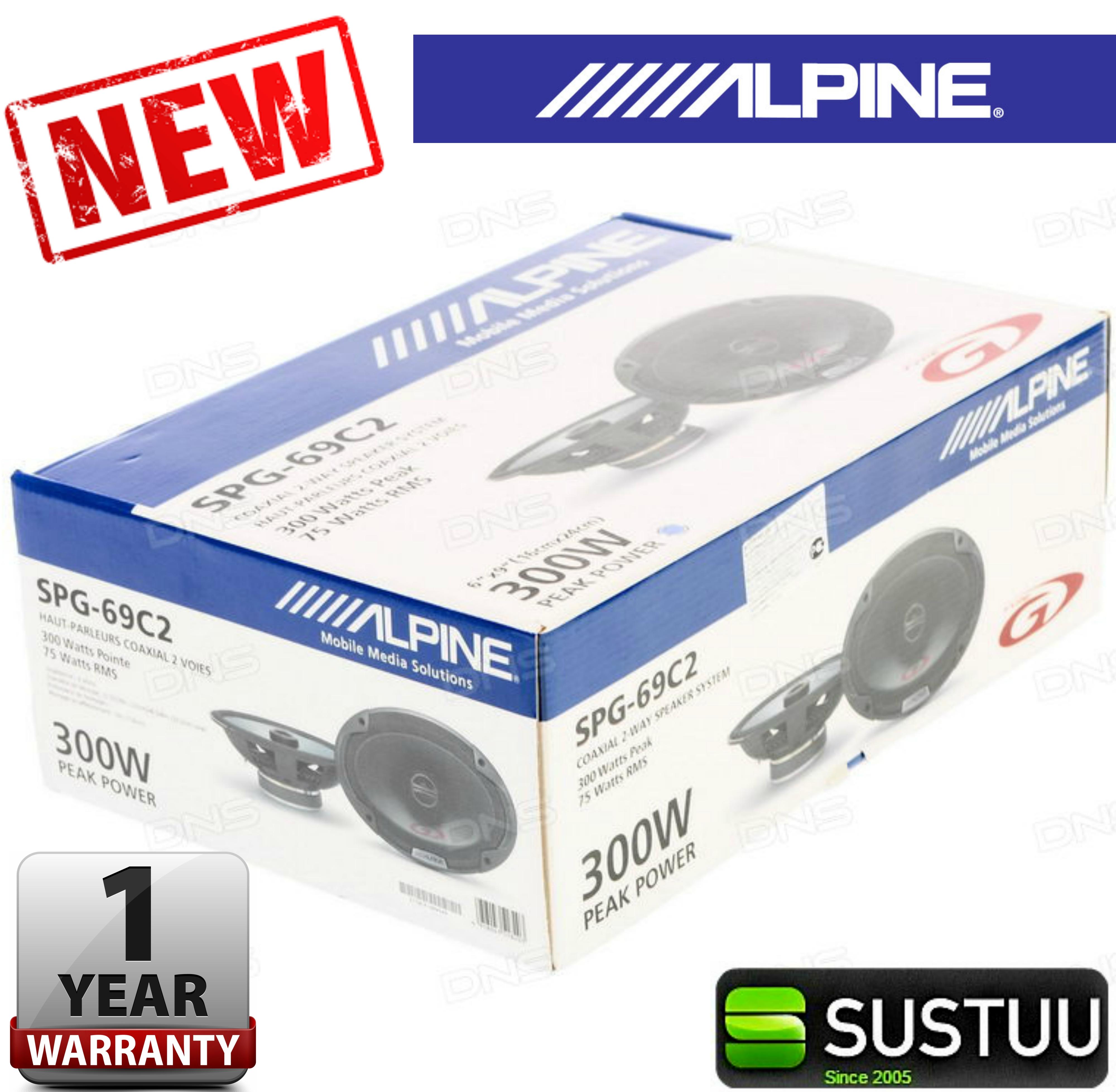 100% Warranty Alpine SPG 69C2 300W 2-Way Coaxial 6x9 Audio Speaker for car NEW
