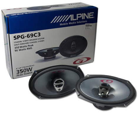 "Alpine SPG 69C3 6x9"" 350W 3 Way Car Radio Stereo Audio Speakers 1 YEAR WARRANTY Thumbnail 2"