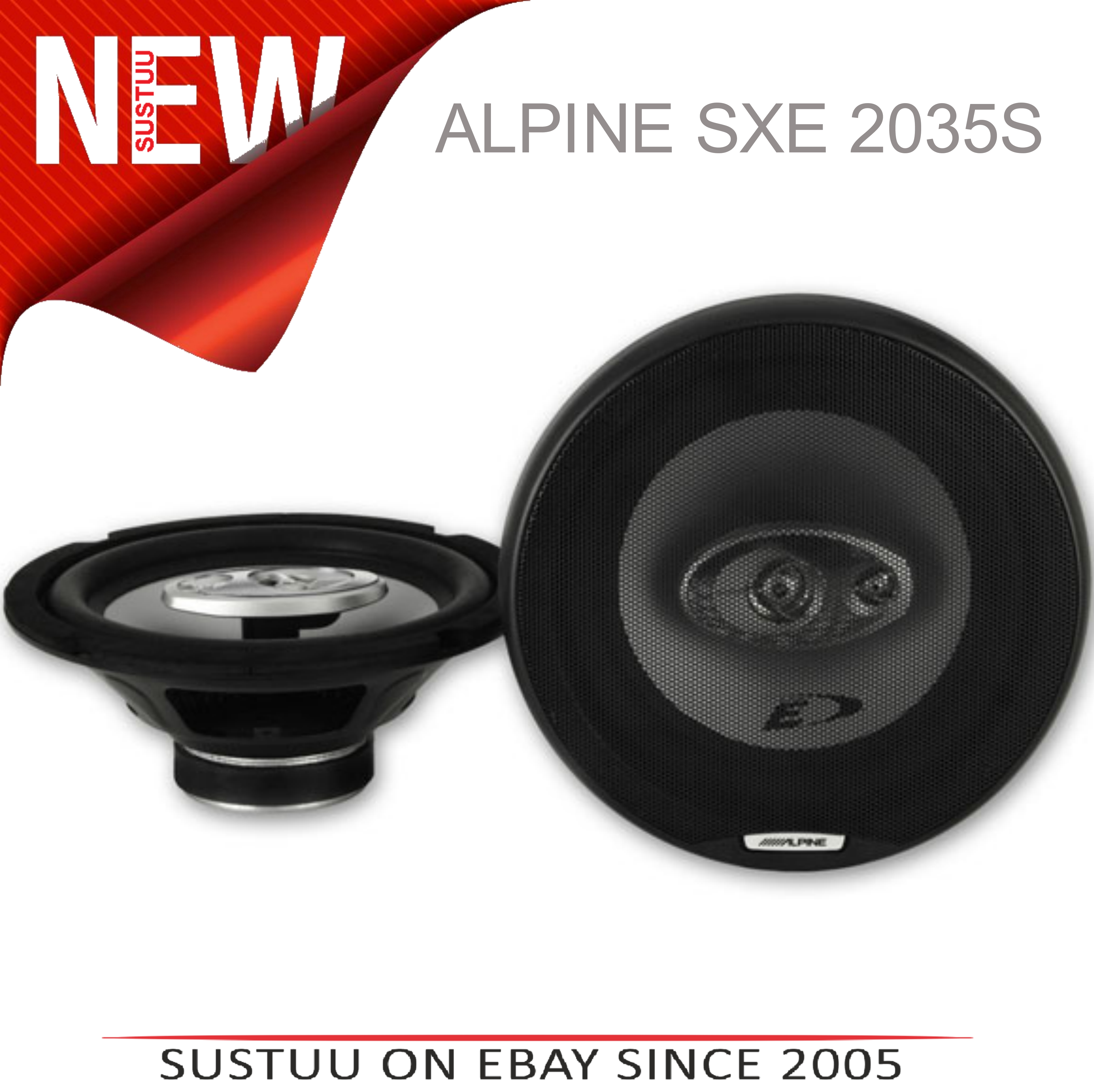 ALPINE SXE-2035E 20cm 3-Way 280W In Car Audio Vehicle Speakers